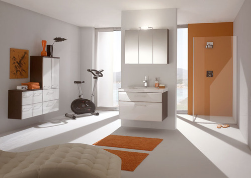 exemple-décoration-salle-de-bain-orange - Batinea.com