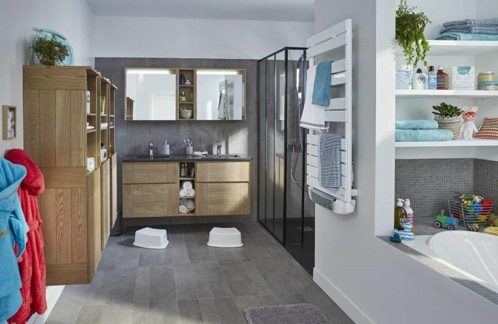 Comment am nager une salle de bain familiale - Idee renovation salle de bain ...