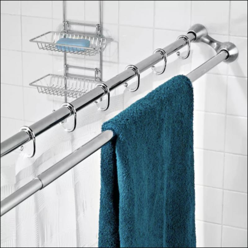 Barre de douche astuce salle de bain