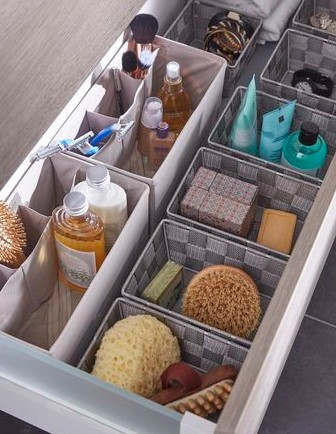 Optimisation des tiroirs salle de bain