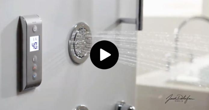 Découvrez le système douche thermostatique numérique Jacob Delafon