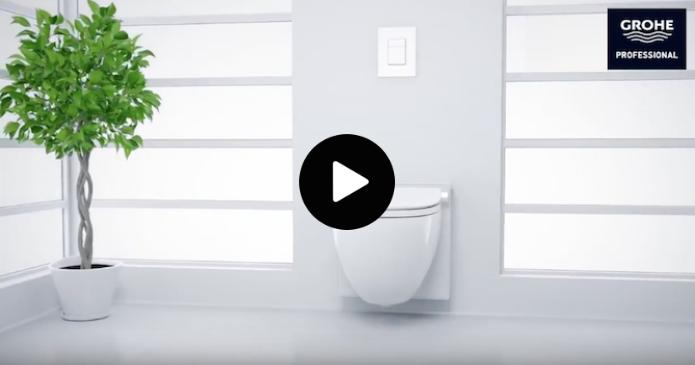 Installer un wc lavant Grohe Sensia IGS