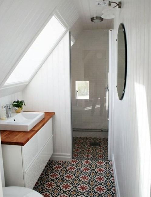 Amenagement salle de bain sous combles