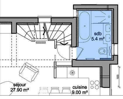 Amenager salle de bain sous combles