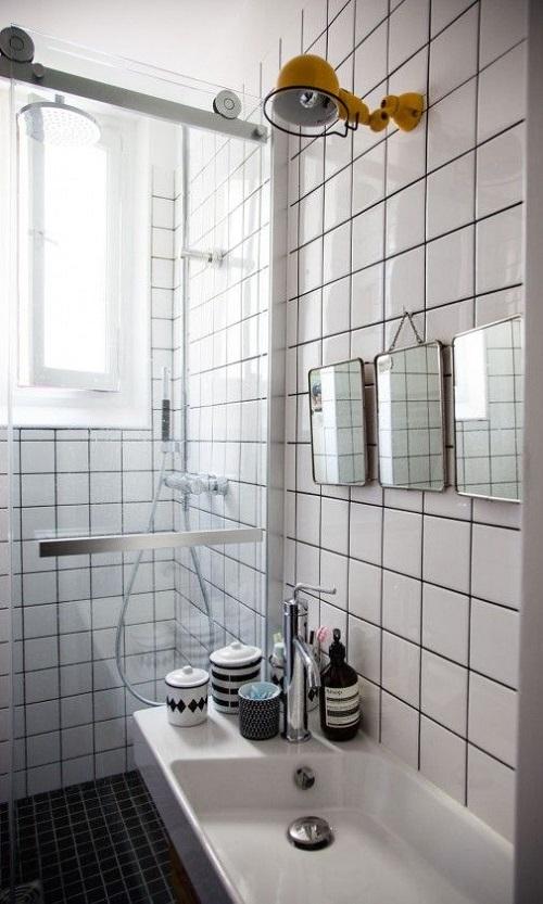 Carrelage pour salle de bain style rétro