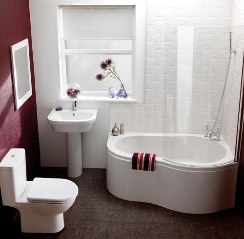 Baignoire d'angle salle de bain