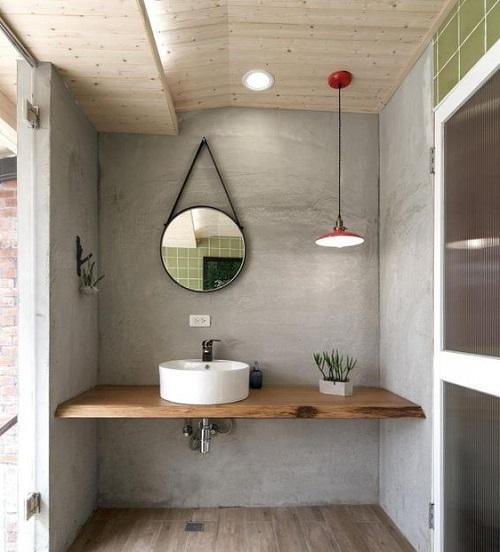 Beton decoratif pour salle de bain