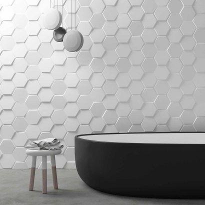Carrelage 3D pour salle de bain