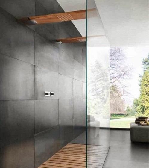 Carrelage beton mur salle de bain