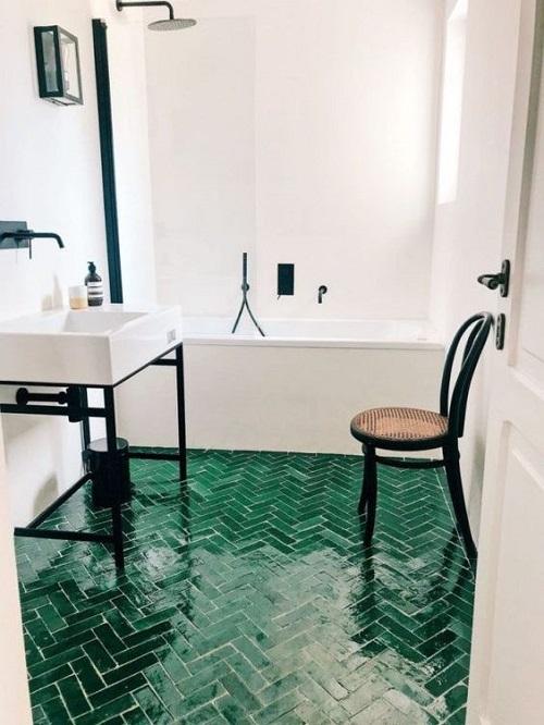 Carrelage-vert-salle-de-bain