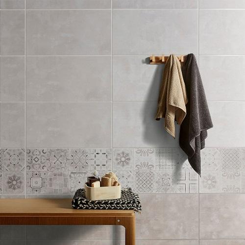 Carrelage salle de bain imitation béton