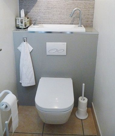 Combine wc suspendu avec lave mains