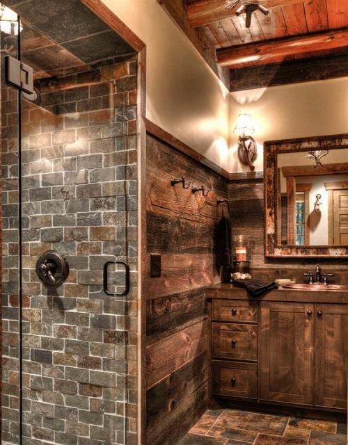 Meuble de salle de bain de style rustique : Type de meuble ...