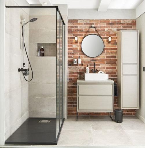 Installation douche italienne avec receveur extra plat
