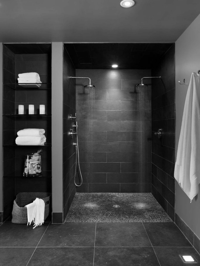 Douche italienne gros anthracite