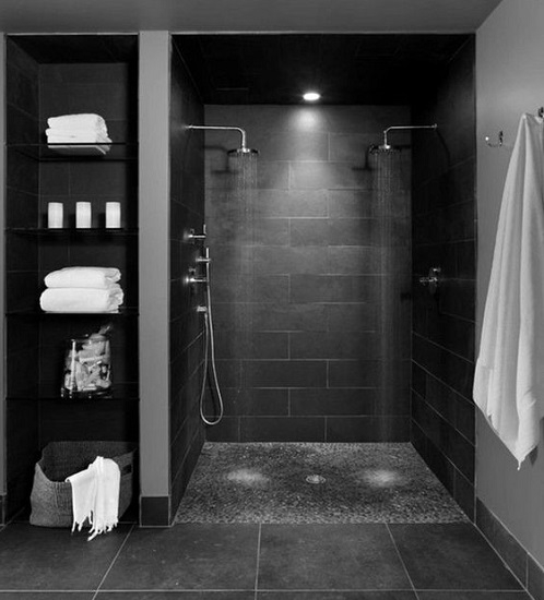 Douche italienne gris anthracite