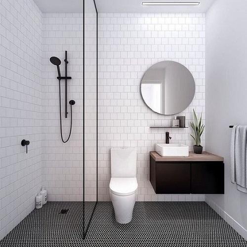 Douche italienne petite salle de bain