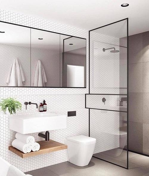 Douche italienne salle de bain petite surface