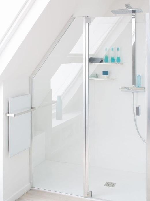 Installation douche a l'italienne sous les combles