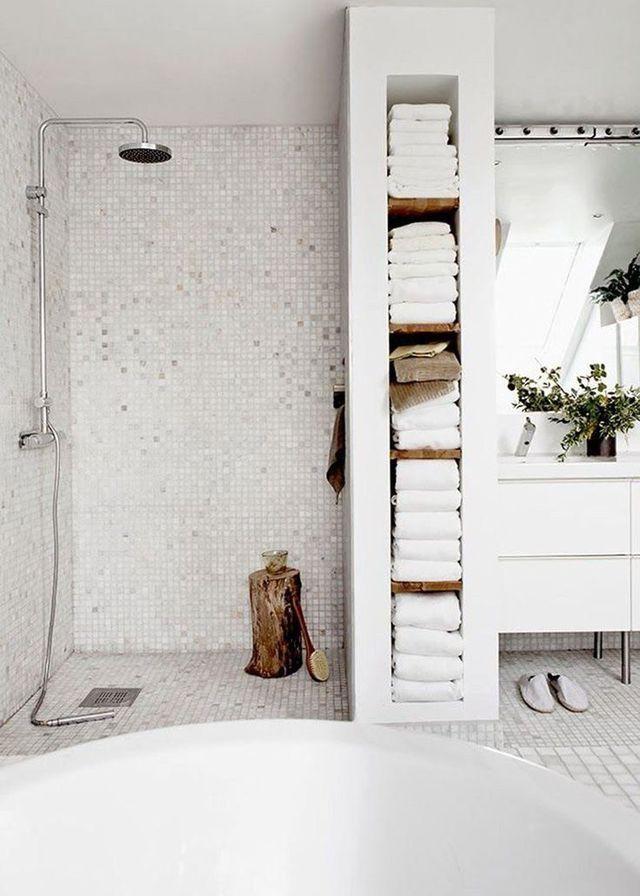 Espace douche salle de bain design