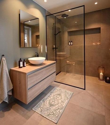 Douche italienne pour salle de bain