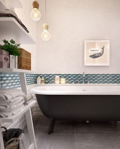 Frise carrelage salle de bain
