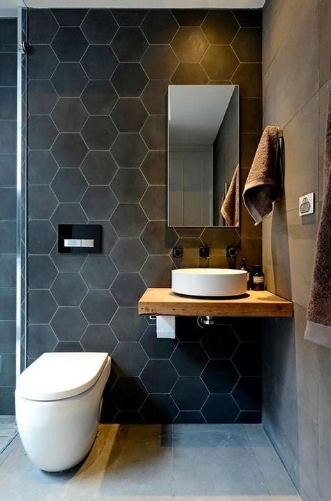 Salle de bain gris anthracite
