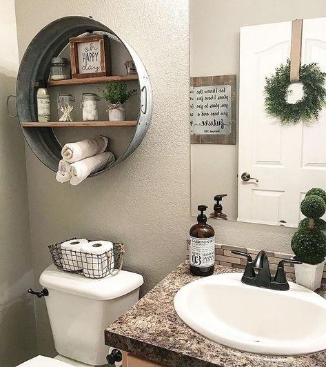 Etagère ronde salle de bain
