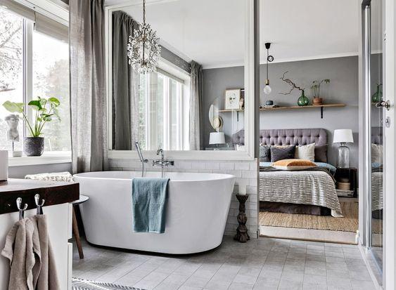 Mettre baignoire ilot dans chambre