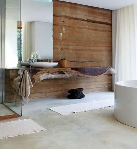 Mettre béton ciré au sol de salle de bain