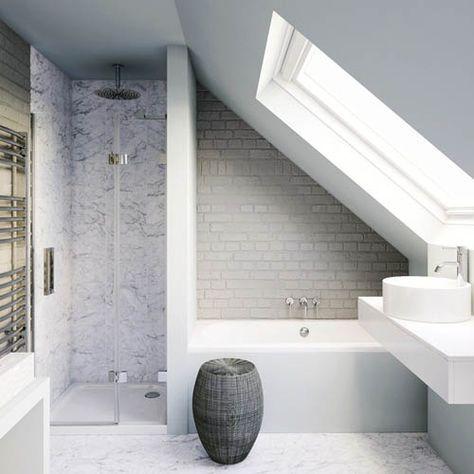Amenagement petite salle de bain sous combles