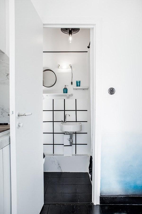 Carrelage lavabo de salle de bain
