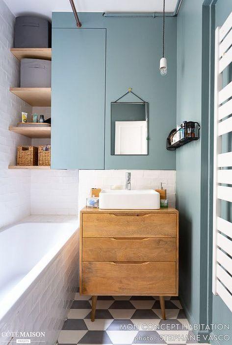 Mettre vasque dans salle de bain à l'étage