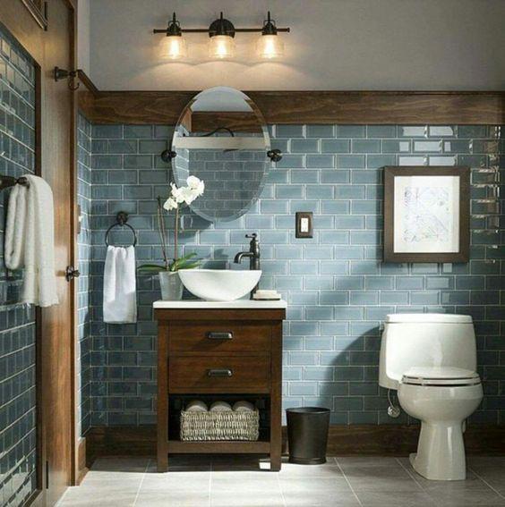 Salle de bain ambiance rétro