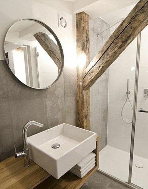 Meuble salle de bain en bois