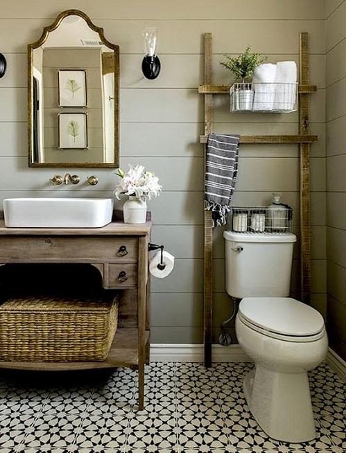 Meuble de salle de bain style rustique