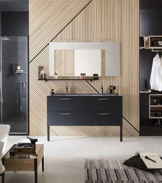 Meuble vasque double salle de bain