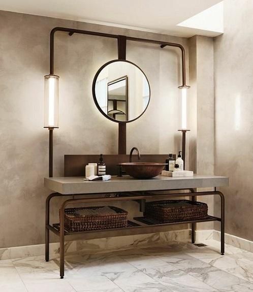 Meuble salle de bain industrielle