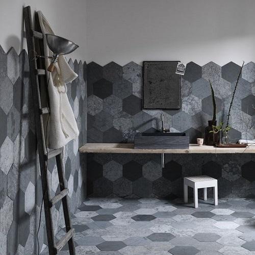 Meuble salle de bain minérale
