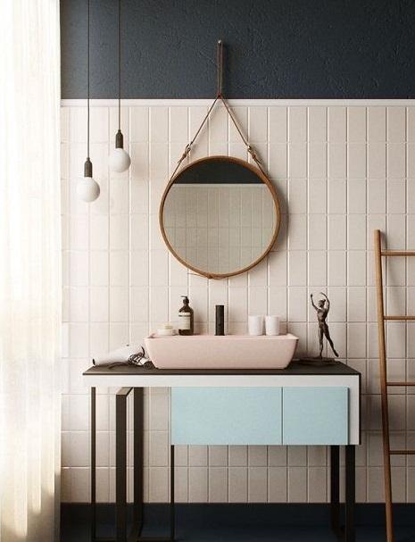Meuble salle de bain pastel