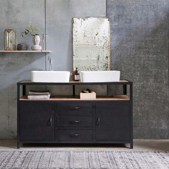 Meuble de salle de bain de style atelier : la tendance ...