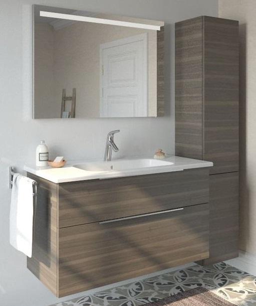 Meuble salle de bain ton bois