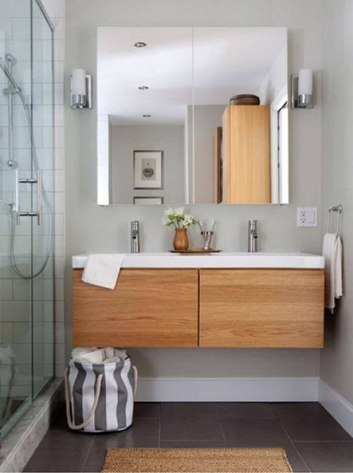 Meuble suspendu pour petite salle de bain