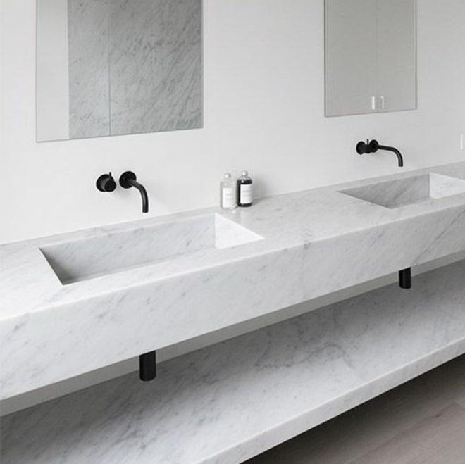 Meuble de salle de bain marbre