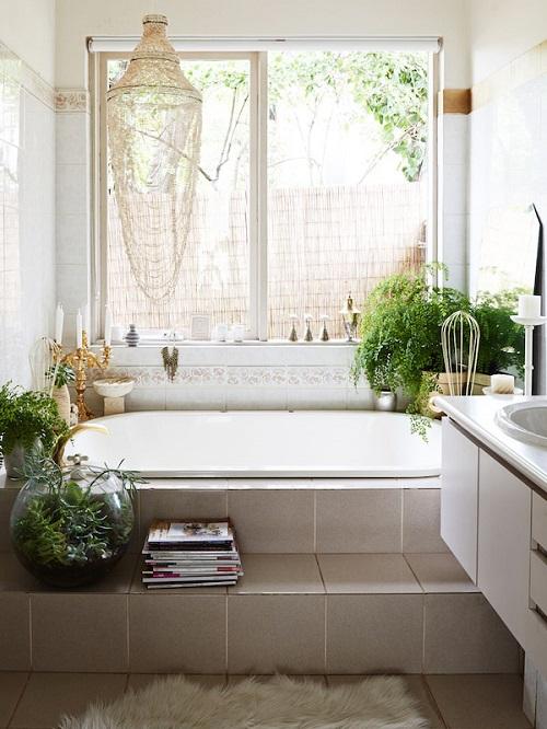 Faire une marche baignoire de salle de bain