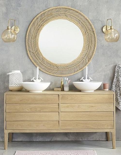 Miroir de salle de bain design