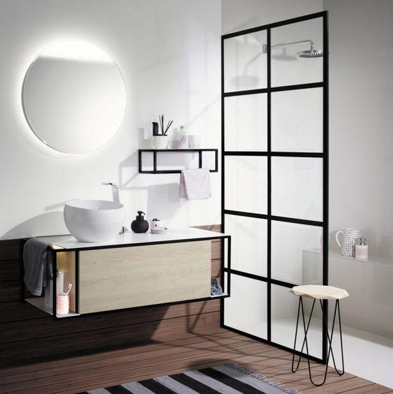 Porte coulissante petite salle de bain