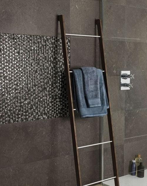 Pate de verre mur salle de bain