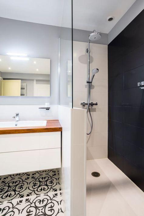 Petit mur pour salle de bain