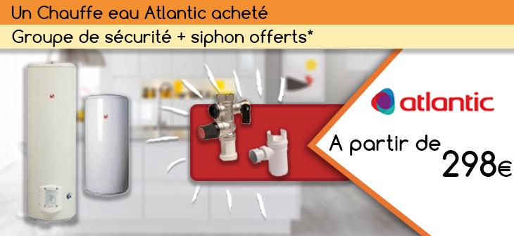 Promo chauffe eau atlantic Batinea